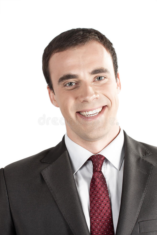 Download Closeup Portrait Of Smiling Young Business Man Stock Image - Image: 26599179