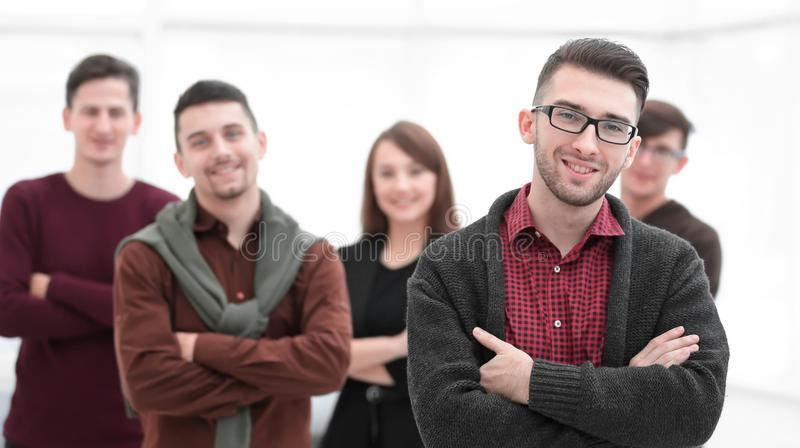 Closeup portrait of successful business team. royalty free stock images