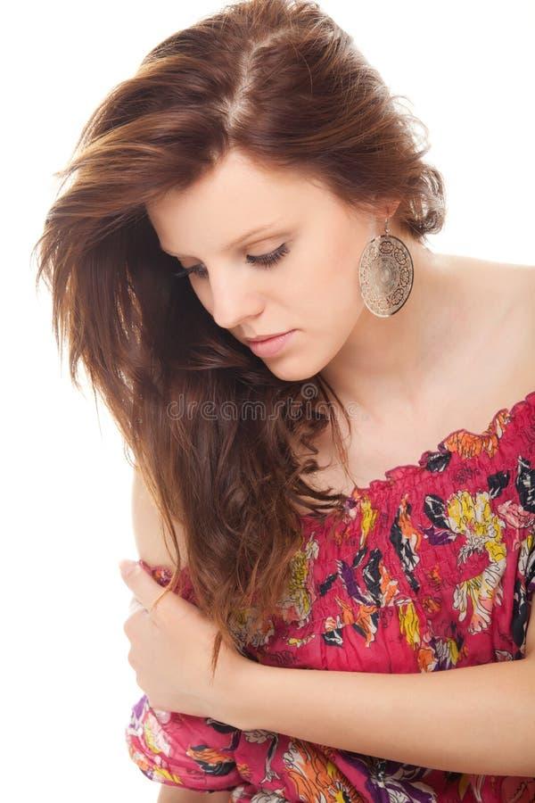 Download Closeup Portrait Tender Young Woman Brunette Stock Photo - Image: 20695688