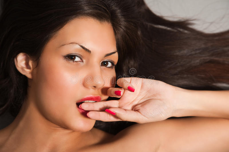 Download Closeup Portrait Of Young Brown Hair Stock Image - Image: 11459703