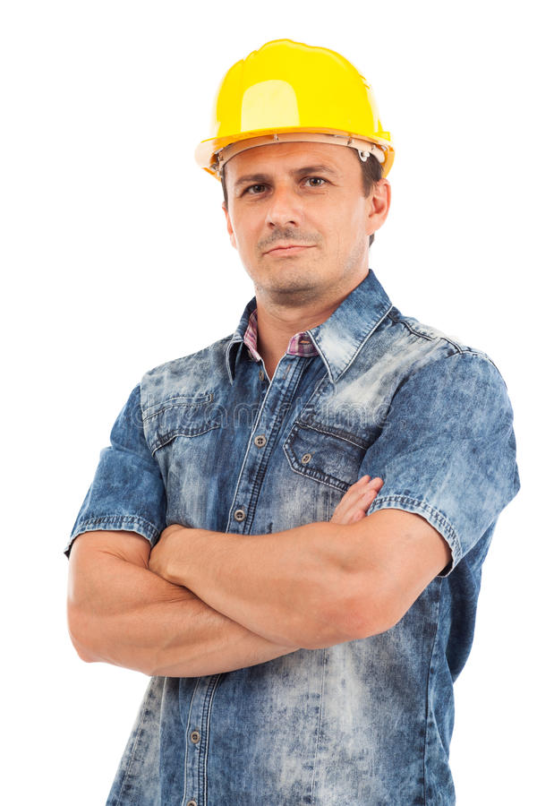 Download Closeup Portrait Of A Young Man With Hardhat Stock Photo - Image: 26777202