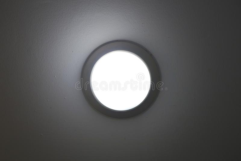 pot light recessed lighting in ceiling tile royalty free stock photography