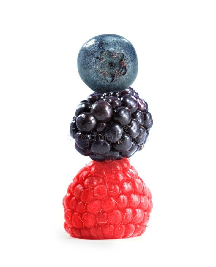 Closeup of raspberry, blackberry and blueberry