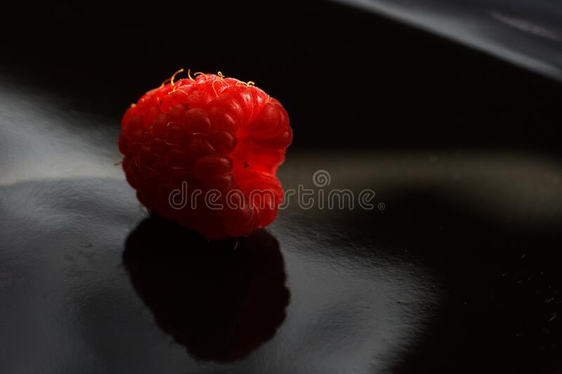 Closeup Of Raspberry On A Dark Surface Free Public Domain Cc0 Image
