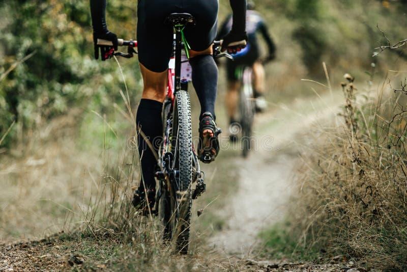 Closeup of rear wheel sports mountainbike stock photos