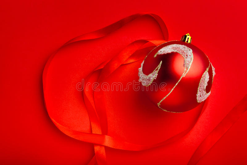 Download Closeup of red ball on red stock illustration. Illustration of christmas - 21457834