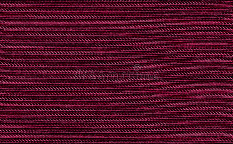 Closeup red color fabric texture. Dark Red strip line fabric pattern design sample or upholstery abstract background. Closeup red color fabric sample texture royalty free stock photo