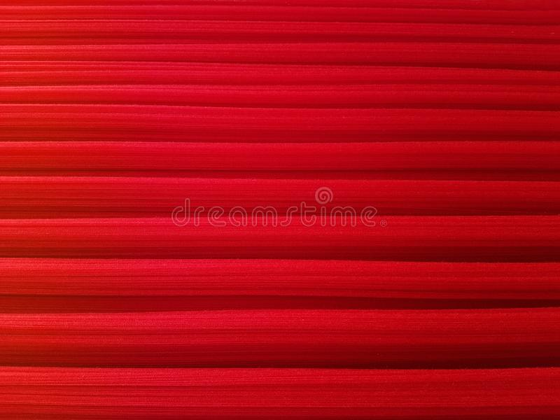 Closeup of red Cotton threads in textile fabric. Abstract red line background stock photography