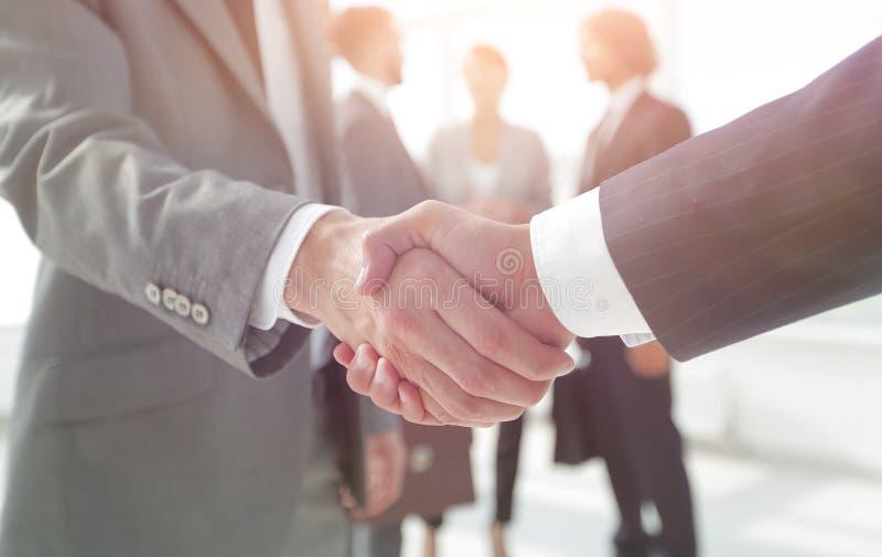 Closeup.reliable handshake of business partners stock photos