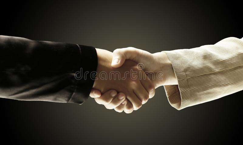 Closeup.reliable handshake business partners.the concept of coo royalty free stock photos