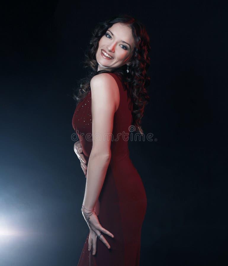 closeup Ritratto di bella donna con trucco di sera fotografia stock