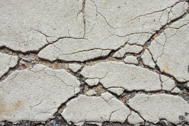 Closeup Road cracks stock photos