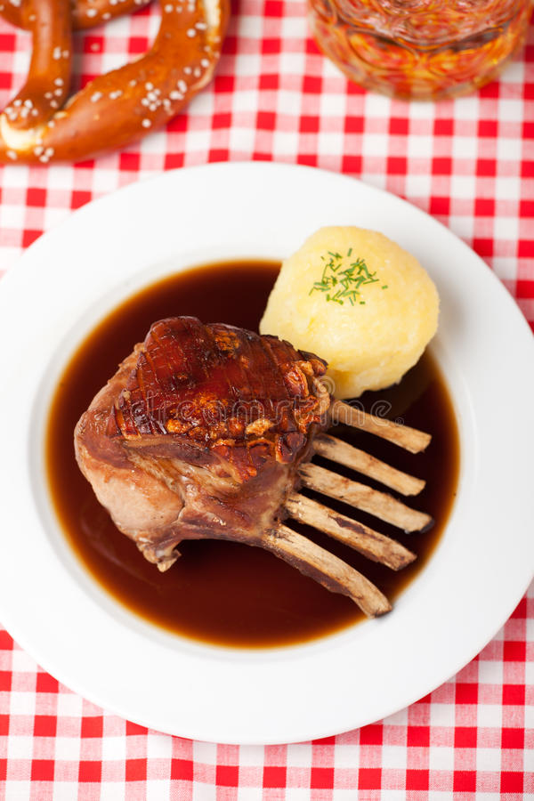 Closeup of roasted suckling stock image