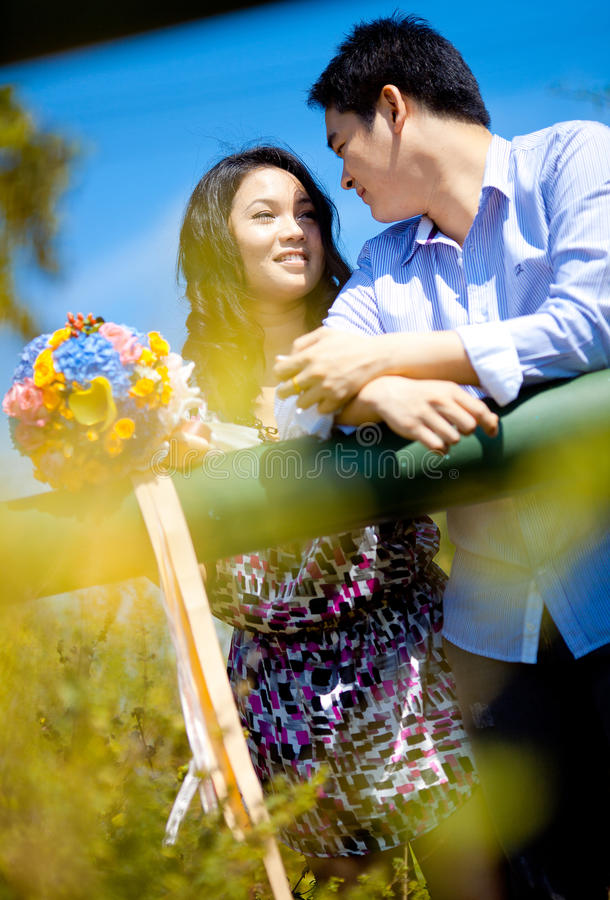 Closeup of romantic couples royalty free stock image