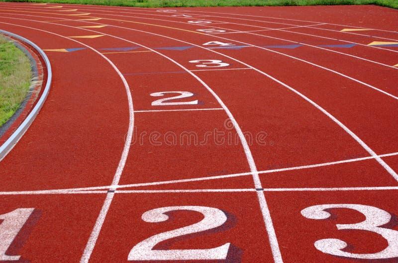 Closeup on running track royalty free stock photos
