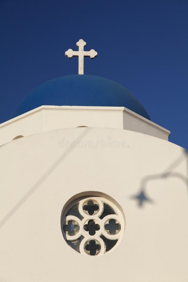 Closeup of Santorini church royalty free stock image