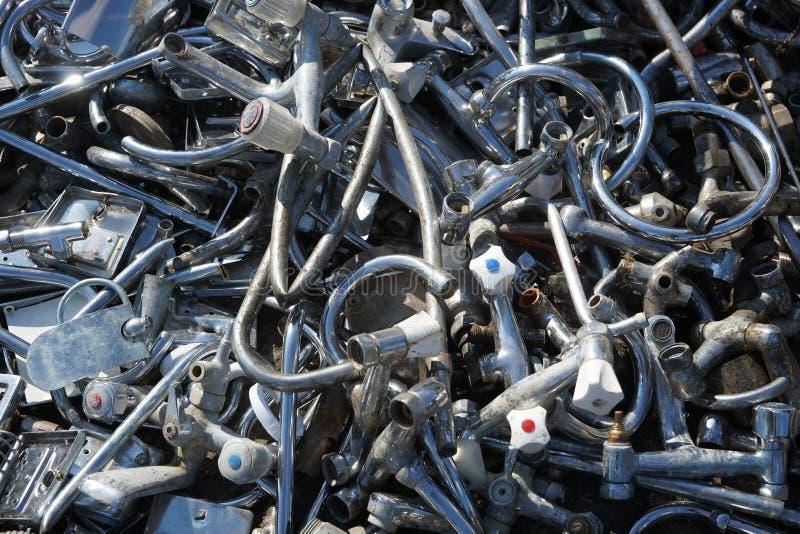 Closeup of scrap metal. Piled closeup, background stock photos