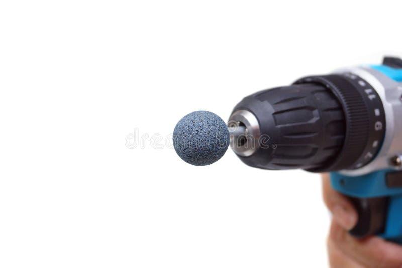 Screwdriver with sander drill bits dremel bits stock photo