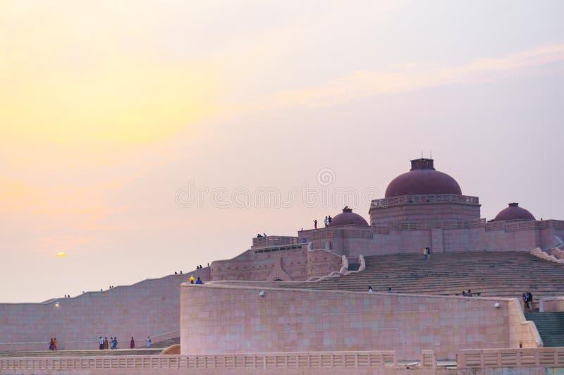 Closeup shot of the Ambedkar Stupa Luckow stock photography