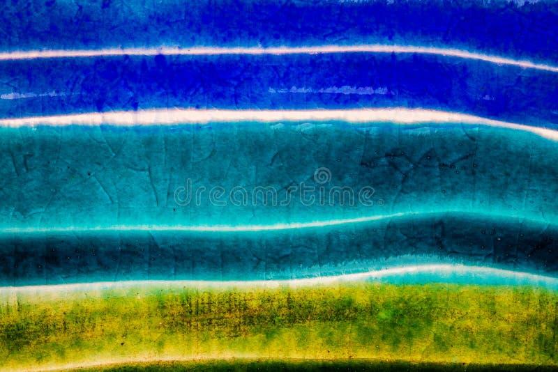 Closeup shot of glazed ceramics texture stock photography