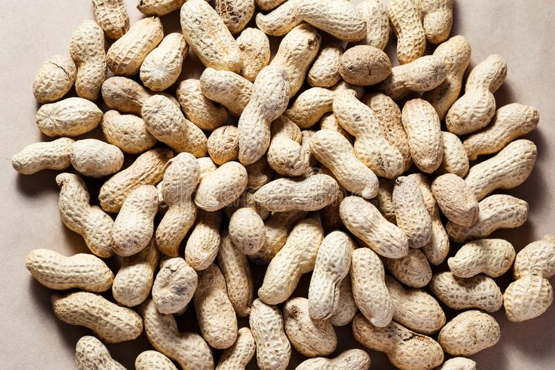 Peanuts in shell textured food background royalty free stock photos