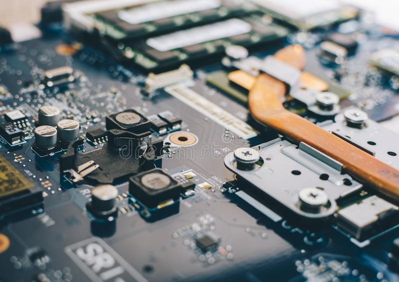 Close-up View Motherboard stock image