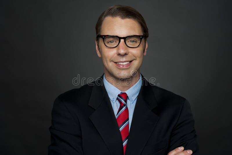 Closeup shot of smiling business executive royalty free stock photos