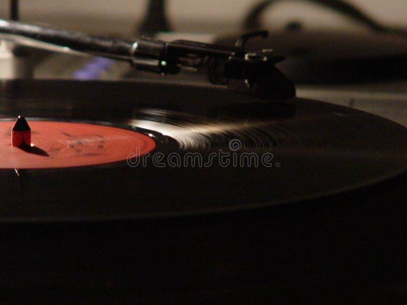 Closeup shot of a vinyl record player. A closeup shot of a vinyl record player royalty free stock photo