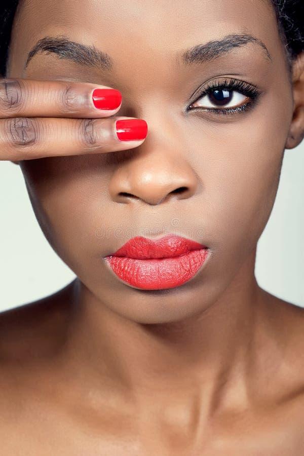 Closeup shot of a young beautiful woman royalty free stock photo