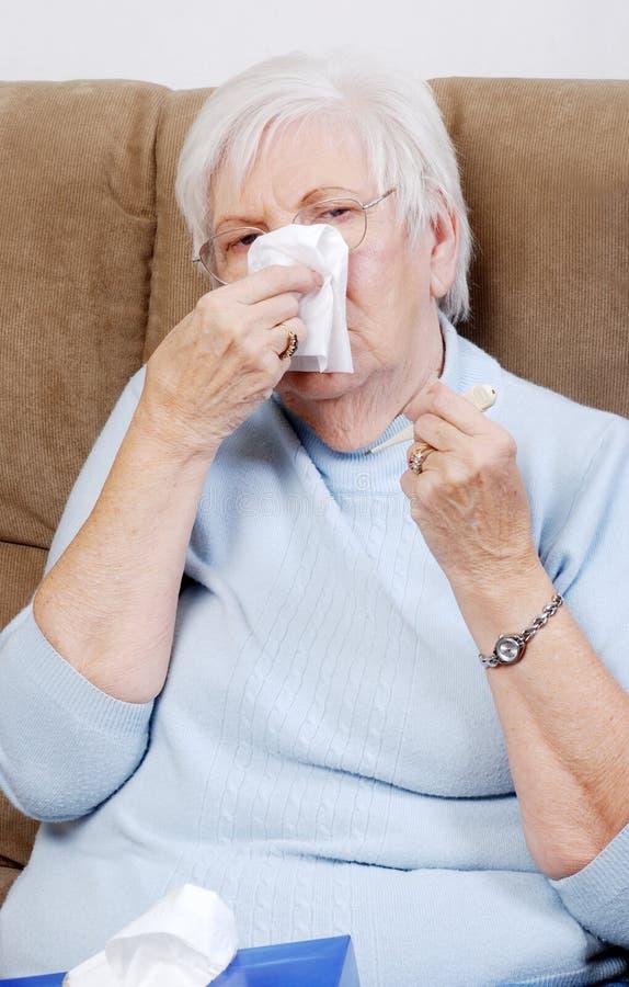 Download Closeup sick senior woman stock photo. Image of aches - 12548498