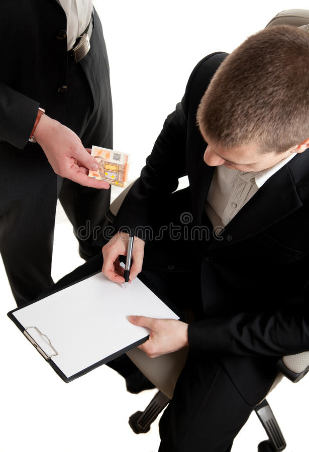 Download Closeup Signing Contract Bribed Stock Image - Image of career, isolated: 18109823
