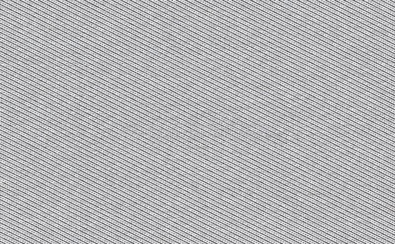 Closeup silver,grey color fabric texture. Strip light grey fabric pattern design or upholstery abstract background.  stock photography