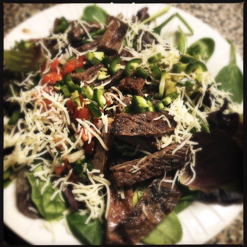 Skirt Steak Salad stock photo