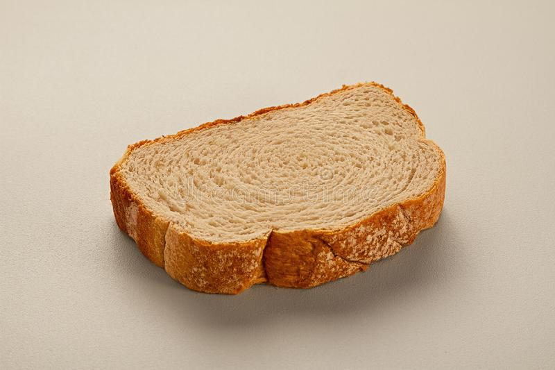 Closeup of slice of bread royalty free stock photos
