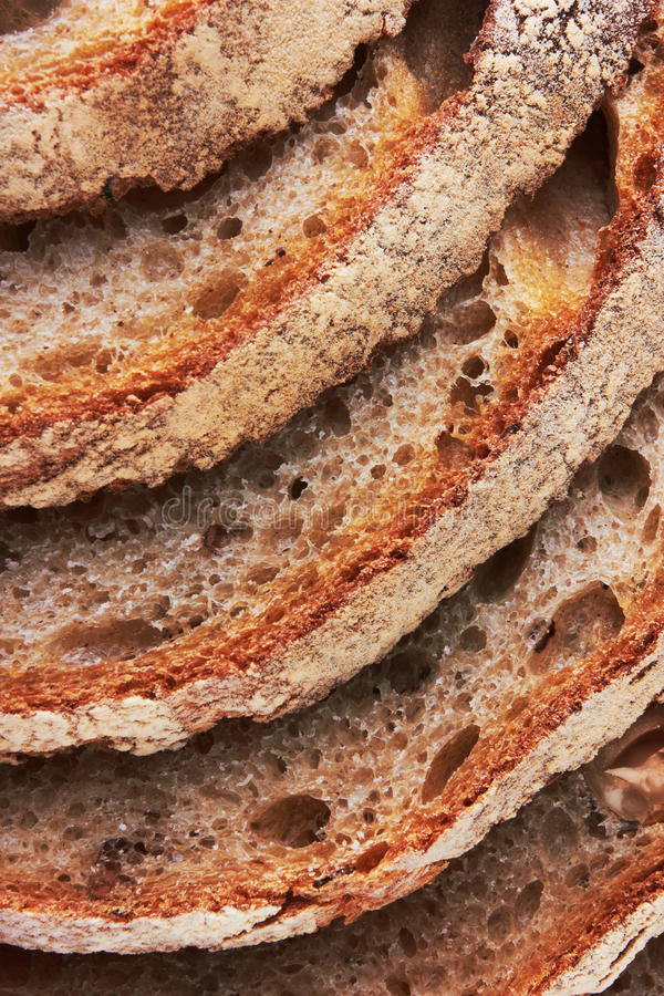 Closeup Of Sliced Bread Stock Photo