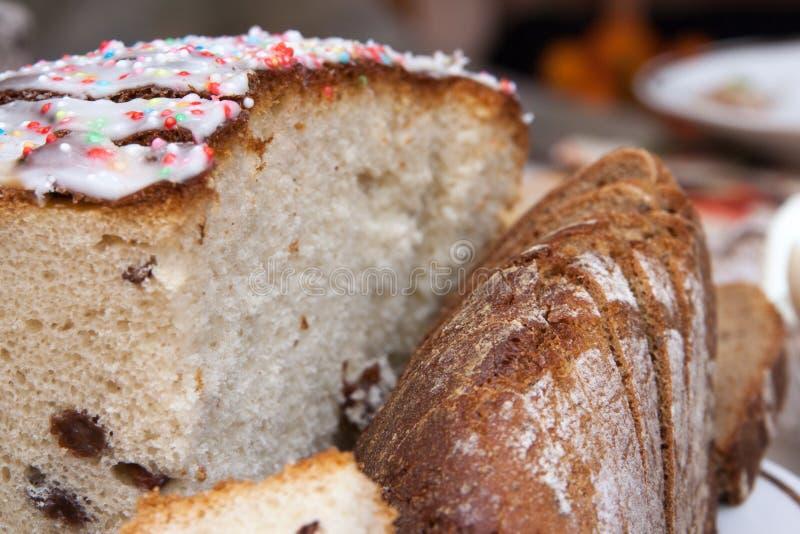 Closeup of sliced bread