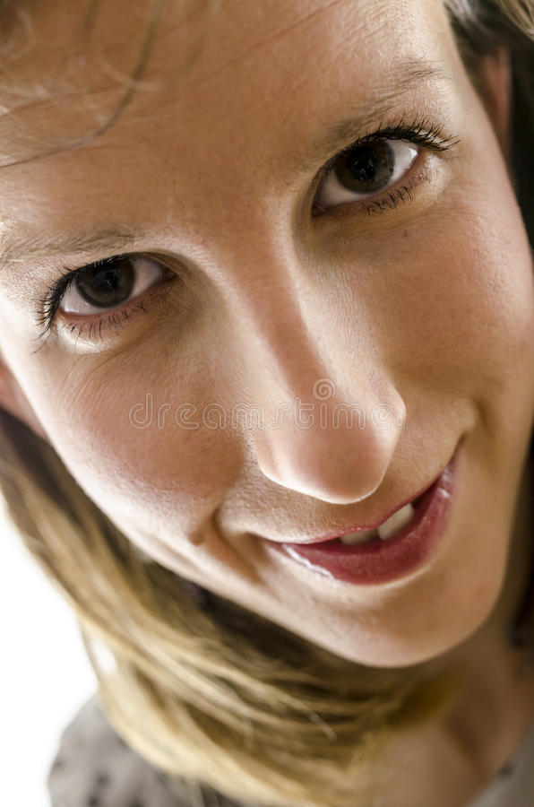 Download Closeup Of A Smiling Woman Portrait Stock Image - Image of headshot, cheerful: 29779643