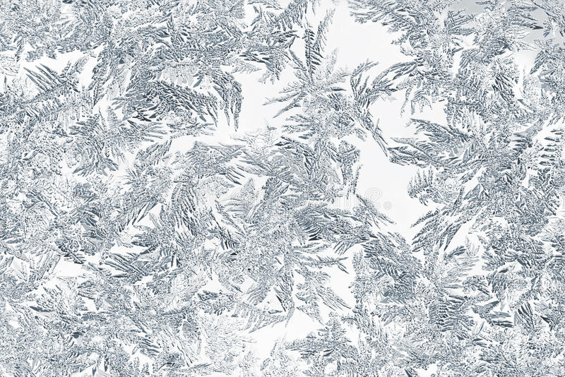 Closeup of snow or ice crystals stock photo