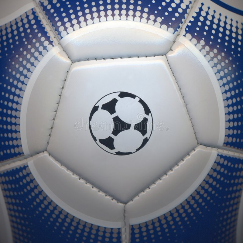 Closeup of a soccer ball royalty free stock photography