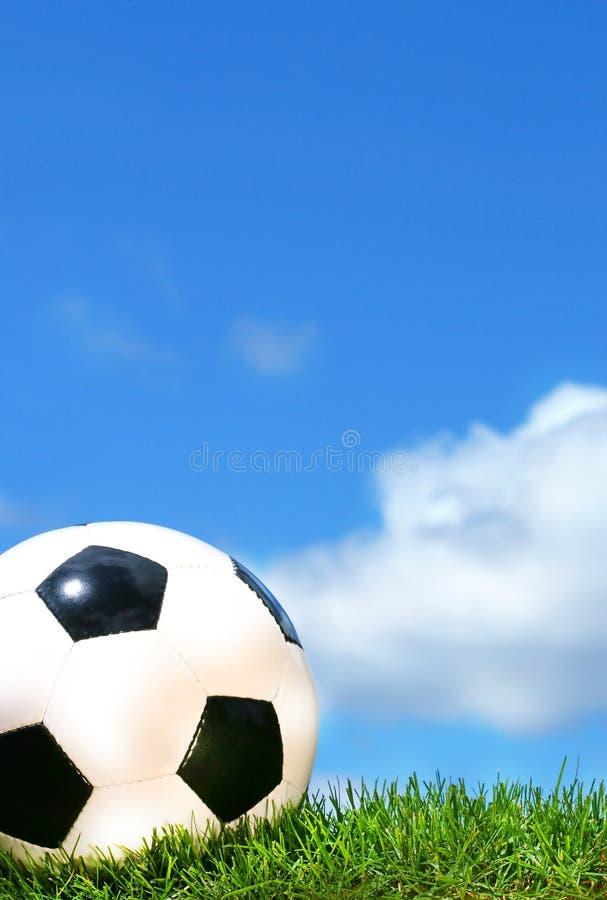 Closeup of a soccerball royalty free stock photo