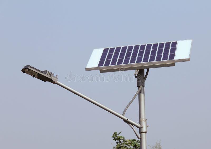 Closeup of Solar Street Light/lamp royalty free stock photo