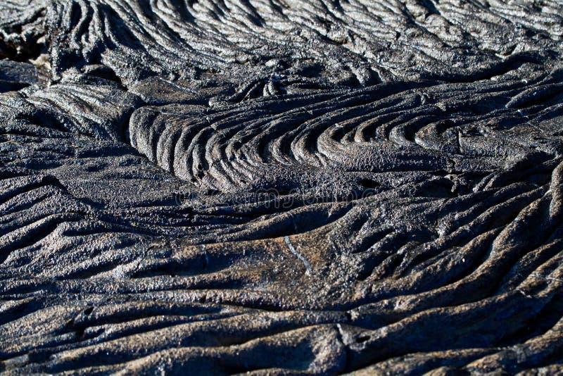Closeup som skjutas av lavabildande i Santiago Island royaltyfria bilder