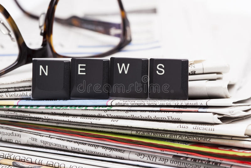 Download Closeup Stack Of Newspapers Stock Photo - Image: 39262568