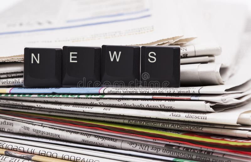 Download Closeup Stack Of Newspapers Stock Image - Image: 39262887