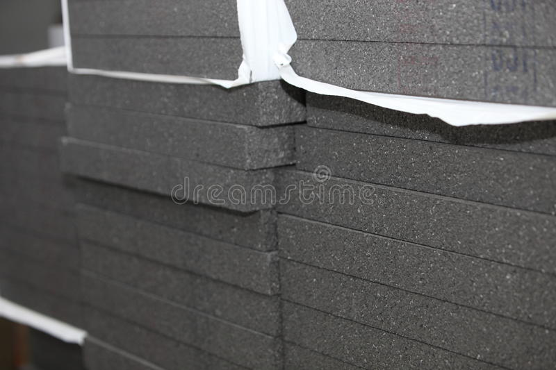 Closeup of stacks of insulation material royalty free stock photography