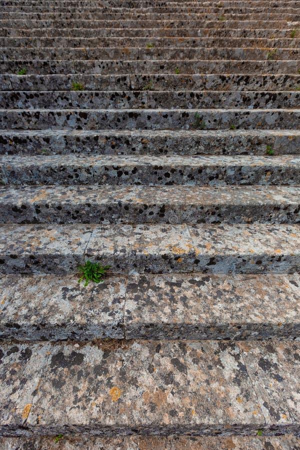 Stone gray stairs stock image