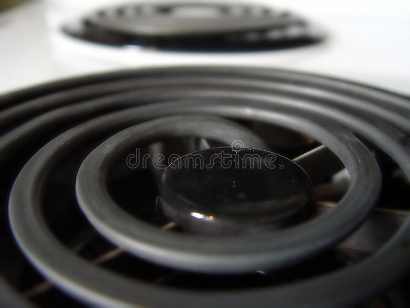 Closeup of Stove Burners stock images