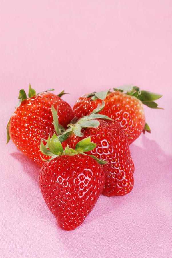 Download Closeup Strawberries On Pink Stock Image - Image: 13902901