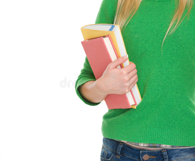 Closeup On Student Girl With Books Stock Image