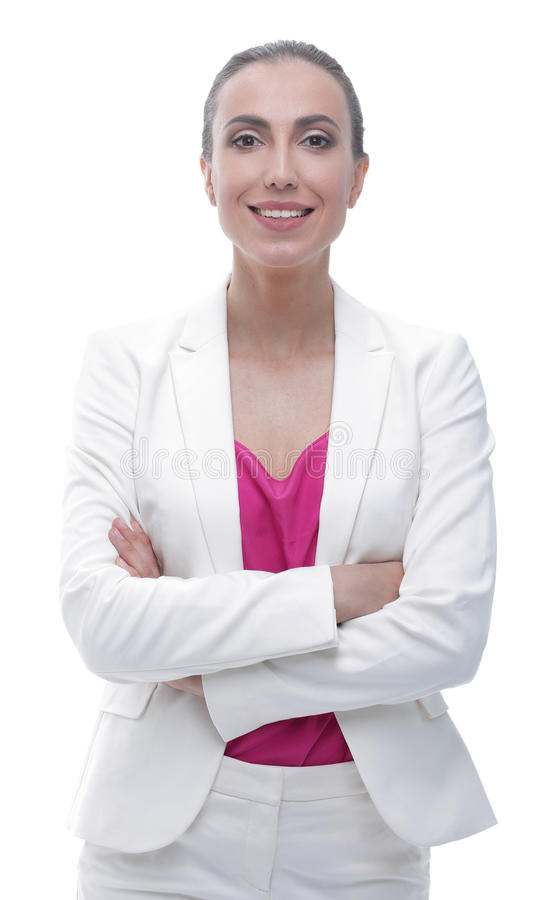 Closeup. successful business woman in a stylish suit royalty free stock photo